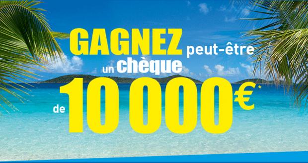Chèque de 10 000 euros