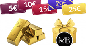 Lingot d'or (valeur 3625 euros)