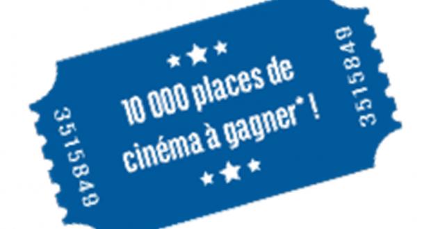 10000 places de cinéma gratuites offertes par BNP Paribas
