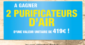2 purificateurs d'air à gagner