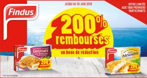 200% remboursés sur les Produits Cuisinés Findus