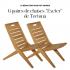 6 paires de chaises Exteter de Tectona