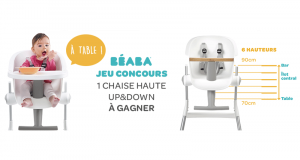Chaise haute Up & Down Beaba