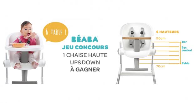 Concours Gagnez La Chaise Haute Up Down Beaba