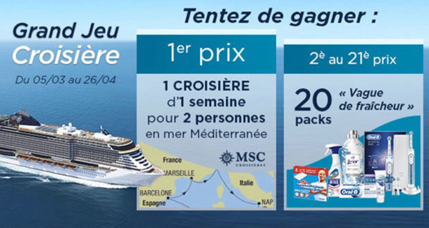 Croisière d'une semaine pour 2 personnes en Méditerranée