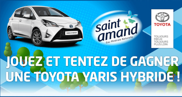 concours gagnez une voiture toyota yaris hybride. Black Bedroom Furniture Sets. Home Design Ideas