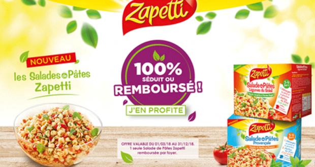 Salade de Pâtes Zapetti 100% Séduit ou Remboursé