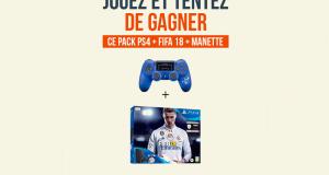 Un pack PS4 + FIFA 18 + Manette
