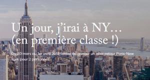 Vol AR pour 2 personnes ParisNew York en classe affaires
