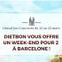 Week-end à Barcelone pour 2 personnes