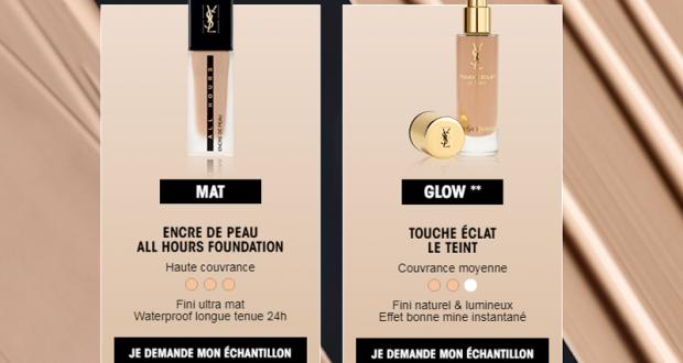 Échantillons gratuits du Fond de Teint TOUCHE ÉCLAT Yves Saint Laurent
