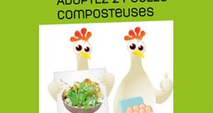 2 poules composteuses offertes