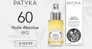 60 Huile Absolue Bio de Patyka à tester gratuitement