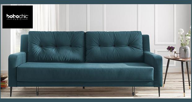 canap bobo chic elegant superbe canape bobochic minimaliste canap design places tissu gris. Black Bedroom Furniture Sets. Home Design Ideas