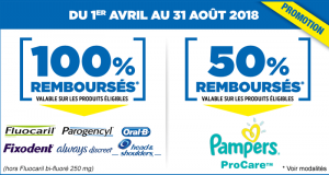 Produits 100% remboursés Pampers, Always Discreet, Head & Shoulders