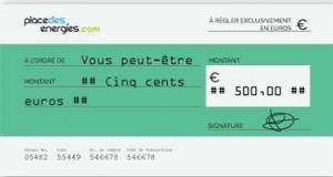 Chèque de 500 euros