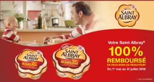 Fromage Saint Albray 100% remboursé