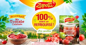 Sauce Zapetti Ma Tomate Cuisinée séduit ou 100% remboursée