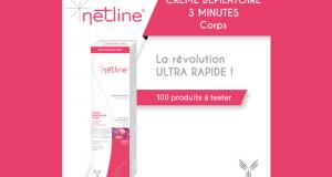 Testez la crème dépilatoire 3 minutes de NetLine