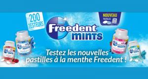 Testez les Nouvelles pastilles Freedent Mints