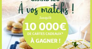 2 cartes cadeau Auchan de 500 euros