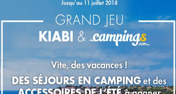 2 séjours d'une semaine en camping en France ou en Espagne