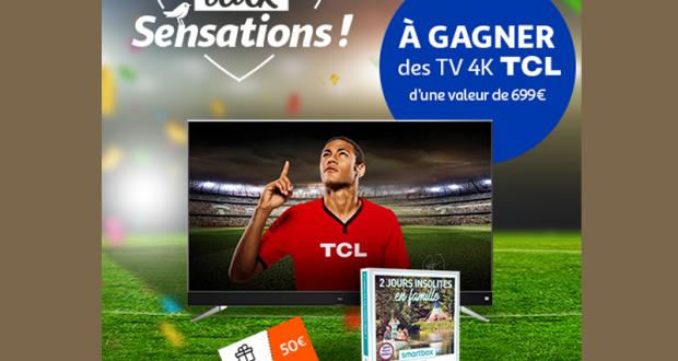 3 télévisions 4K 139cm TCL