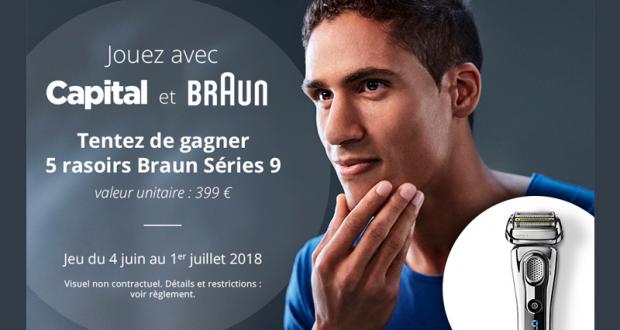 5 rasoirs électriques Braun