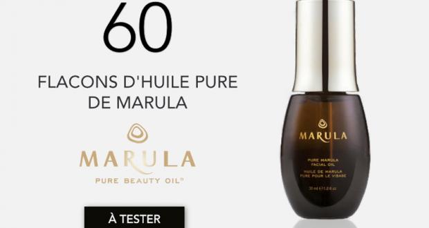 60 Huiles Pure de Marula à tester gratuitement