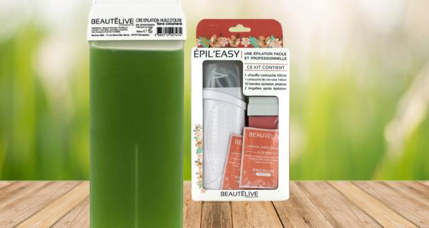 Cartouches de cire à l'huile d'olive et leur kit d'épilation Beautélive