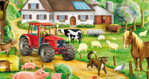 Livre de coloriage gratuit On the farm