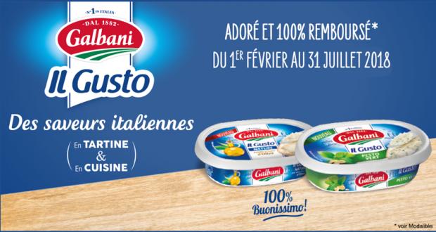 Produit Il GUSTO GALBANI100% remboursé