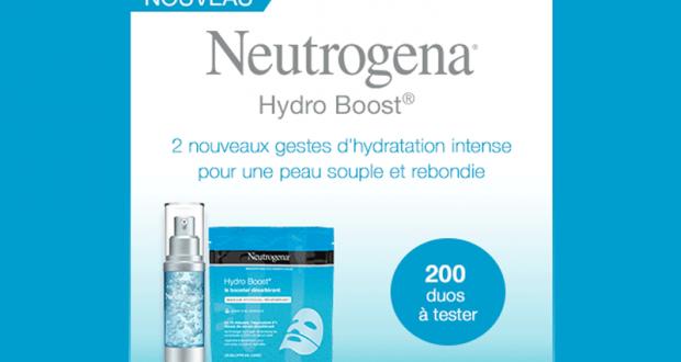 Testez le duo hydratant Hydro Boost de Neutrogena