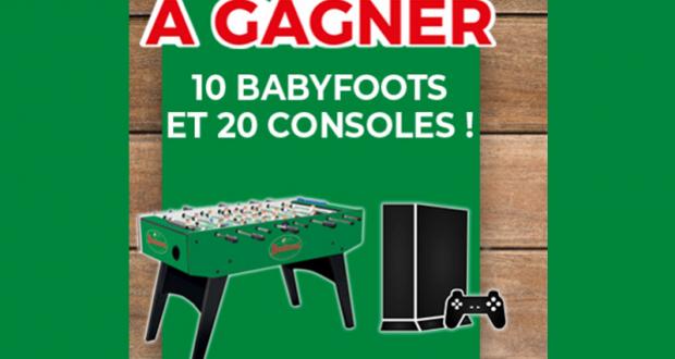10 babyfoots (valeur unitaire 950 euros)