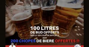 200 chopes de bière offertes pour la finale de la coupe du monde