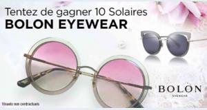 10 paires de lunettes de soleil Bolon Eyewear