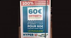 100% de vos achats remboursés Hyper U Reims Village