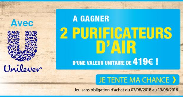 2 purificateurs d'air (valeur unitaire 419 euros)