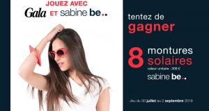 8 paires de lunettes de soleil Sabine Be