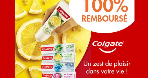 Dentifrice Colgate Natural Extracts 100% Remboursé