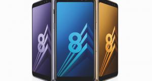 2 smartphones Samsung Galaxy A8