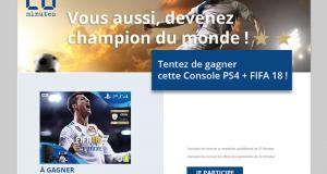 Console de jeux PS4 avec le jeu Fifa 18