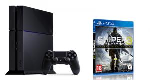 Console de jeux PS4 et 1 jeu vidéo Sniper Ghost Warrior 3
