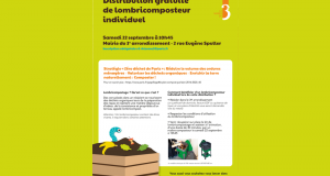 Distribution gratuite de Lombricomposteurs