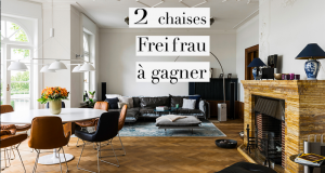 Ensemble de deux chaises en cuir Freifrau