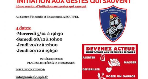 Initiation gratuite aux gestes qui sauvent - Griesheim sur Souffel