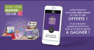 Invitation gratuite pour le salon Hors Série Maison Foire de Paris