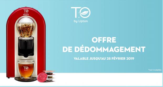 Machine à Thé Krups T.O by Lipton remboursée jusqu'à 100 %