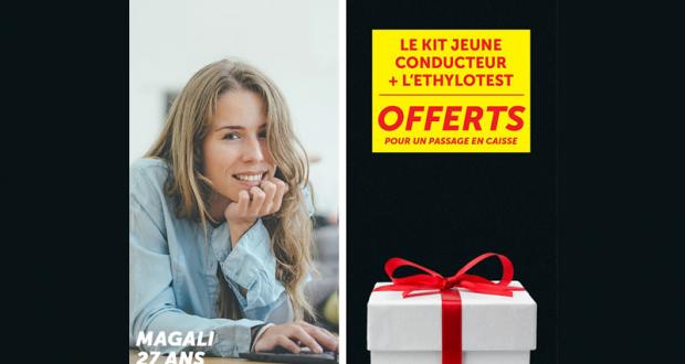 Un kit Jeune Conducteur et un Éthylotest offerts