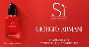 Échantillons Gratuits du parfum Si Passione de Giorgio Armani